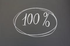 Εκατό τοις εκατό Στοκ Εικόνες