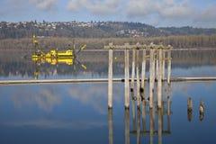 Εκβάθυνση των βαρκών στον ποταμό της Κολούμπια Στοκ Εικόνες