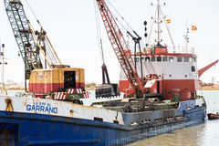 Εκβάθυνση Ayamonte, λιμάνι Ισπανία Ανδαλουσία Στοκ φωτογραφία με δικαίωμα ελεύθερης χρήσης