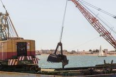 Εκβάθυνση Ayamonte, λιμάνι Ισπανία Ανδαλουσία Στοκ Εικόνες