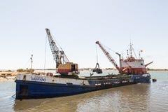 Εκβάθυνση Ayamonte, λιμάνι Ισπανία Ανδαλουσία Στοκ εικόνα με δικαίωμα ελεύθερης χρήσης