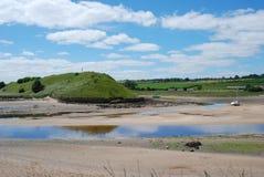 Εκβολή στον ποταμό Aln σε Alnmouth στοκ εικόνα