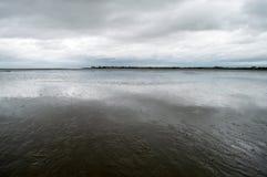 Εκβολή της Dee ποταμών στοκ εικόνες