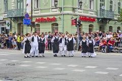 Εκδήλωση λαογραφίας οδών στη Σερβία Στοκ εικόνα με δικαίωμα ελεύθερης χρήσης
