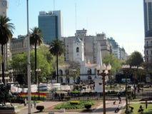 Εκδήλωση σε Plaza de Mayo Μπουένος Άιρες Αργεντινή Στοκ φωτογραφία με δικαίωμα ελεύθερης χρήσης