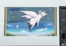 ` Εκείνο το ` ll είναι η ημέρα ` από το Frank Καμπανία, τοιχογραφία τέχνης τοίχων σε βαθύ Ellum, Ντάλλας, Τέξας στοκ φωτογραφία με δικαίωμα ελεύθερης χρήσης