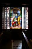 λεκιασμένα γυαλί Windows εκκλησιών Στοκ Εικόνες