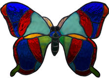λεκιασμένο γυαλί - μια πεταλούδα 1 Στοκ φωτογραφία με δικαίωμα ελεύθερης χρήσης