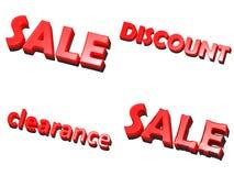 εκκαθάρισης άσπρη λέξη πώλη Διανυσματική απεικόνιση