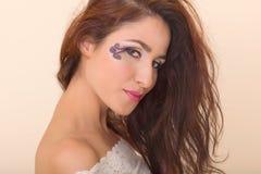 Εκκεντρικό μάτι makeup Στοκ εικόνες με δικαίωμα ελεύθερης χρήσης