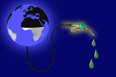 Εκκενωμένοι σφαίρα οι μισοί από τους πόρους πετρελαίου από την αντλία καυσίμων Απεικόνιση αποθεμάτων