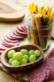Εκκινητής τροφίμων Tapas, κρέας με τα λαχανικά Στοκ φωτογραφίες με δικαίωμα ελεύθερης χρήσης