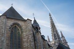 Εκκλησία Αγίου Γερτρούδη ` s στο Λουβαίν, Βέλγιο Στοκ Φωτογραφία