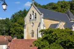 Εκκλησία Αγίου Catherine σε Carlux Κοιλάδα Dordogne, Aquitaine, στοκ εικόνες