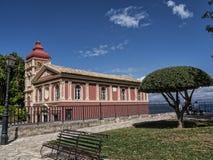 Εκκλησία από το παλαιό φρούριο στην πόλη της Κέρκυρας στο ελληνικό νησί της Κέρκυρας Στοκ εικόνες με δικαίωμα ελεύθερης χρήσης