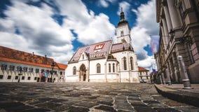 Εκκλησία Ζάγκρεμπ του ST Marko ` s Στοκ Φωτογραφία