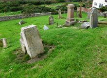 Εκκλησία και αρχαίο έδαφος ενταφιασμών, νότιο Ayrshire, Σκωτία στοκ εικόνα με δικαίωμα ελεύθερης χρήσης