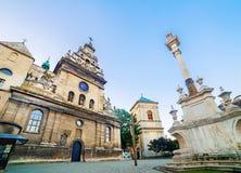Εκκλησία και μοναστήρι Bernardine σε Lviv Στοκ φωτογραφία με δικαίωμα ελεύθερης χρήσης