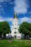 εκκλησία Λειψία τα αναμνηστικά ρωσικά Στοκ εικόνα με δικαίωμα ελεύθερης χρήσης