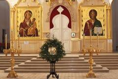 εκκλησία μέσα σε ορθόδο&xi Στοκ εικόνες με δικαίωμα ελεύθερης χρήσης