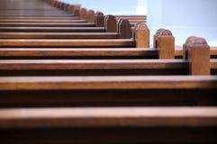 εκκλησία πάγκων Στοκ Φωτογραφίες