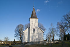 εκκλησία που αντιμετωπίζει το Βορρά uller Υ νησιών Στοκ Εικόνες