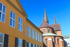 εκκλησία Ρόσκιλντ Στοκ φωτογραφία με δικαίωμα ελεύθερης χρήσης