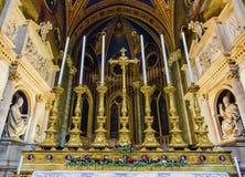 Εκκλησία Ρώμη Ιταλία βασιλικών βωμών της Σάντα Μαρία Sopra Minerva Στοκ Φωτογραφίες