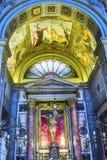 Εκκλησία Ρώμη Ιταλία βασιλικών βωμών Al Corso Chiesa SAN Marcello παρεκκλησιών Στοκ Εικόνα