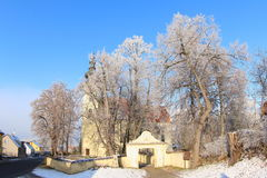 Εκκλησία σε Kamenny Ujezd, Czechia Στοκ φωτογραφίες με δικαίωμα ελεύθερης χρήσης