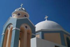 Εκκλησία σε Santorini Στοκ Εικόνες