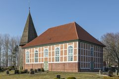 Εκκλησία σε Steinau, χαμηλότερη Σαξωνία, Γερμανία Στοκ Εικόνες