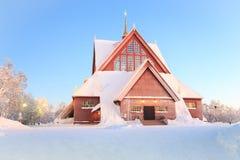 Εκκλησία Σουηδία καθεδρικών ναών Kiruna Στοκ Φωτογραφίες