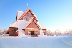 Εκκλησία Σουηδία καθεδρικών ναών Kiruna Στοκ Φωτογραφία