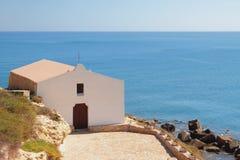 Εκκλησία στην παραλία Πόρτο-Torres, Ιταλία Στοκ Φωτογραφία