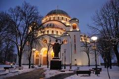 Εκκλησία στη νύχτα Στοκ Εικόνες