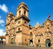 Εκκλησία της επιχείρησης του Ιησού Plaza de Armas σε Cuzco, Περού Στοκ Φωτογραφία