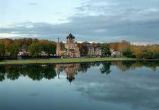 Εκκλησία της ζωή-δίνοντας τριάδας σε Ostankino Στοκ φωτογραφία με δικαίωμα ελεύθερης χρήσης