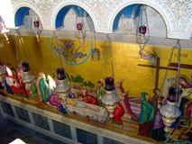 Εκκλησία της ΙΕΡΟΥΣΑΛΗΜ, ΙΣΡΑΗΛ του ιερού Sepulcher Άποψη μέσα στοκ φωτογραφίες