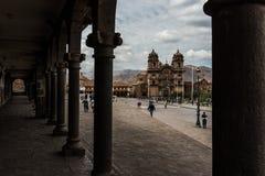 Εκκλησία της κοινωνίας του Ιησού Plaza de Armas σε Cusco, Περού Στοκ Εικόνα