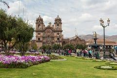 Εκκλησία της κοινωνίας του Ιησού Plaza de Armas σε Cusco, Περού Στοκ Φωτογραφίες