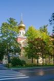 Εκκλησία της μεσολάβησης στην Αγία Πετρούπολη του Μέγας Πέτρου Στοκ Εικόνες