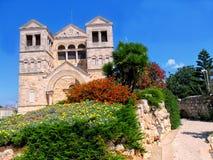 Εκκλησία της μεταμόρφωσης στο υποστήριγμα Tabor στο Ισραήλ Στοκ εικόνα με δικαίωμα ελεύθερης χρήσης