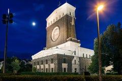 Εκκλησία της πιό ιερής καρδιάς του Λόρδου μας στην Πράγα, τσεχικό ύφασμα στοκ εικόνες