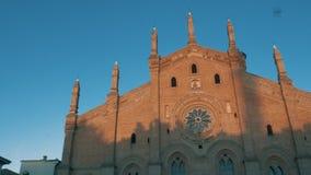 Εκκλησία της Σάντα Μαρία Del Carmine στην Παβία, PV, Ιταλία, παν πυροβολισμός απόθεμα βίντεο