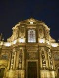 Εκκλησία της Notre-Dame de Μπορντώ τη νύχτα Aquitaine, Γαλλία Στοκ Φωτογραφίες