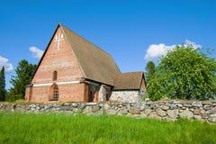Εκκλησία του ιερού διαγώνιου Hattulan Seurakunta Hattula, Φινλανδία στοκ εικόνες