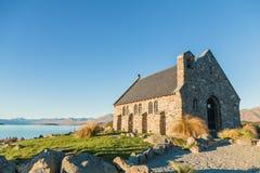 Εκκλησία του καλού ποιμένα, λίμνη Tekapo, εθνικές νότιες Άλπεις πάρκων, Νέα Ζηλανδία Στοκ Φωτογραφίες
