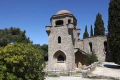 Εκκλησία του μοναστηριού Filerimos, Ρόδος στοκ εικόνα