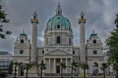 Εκκλησία του Carl στη Βιέννη Στοκ Φωτογραφία